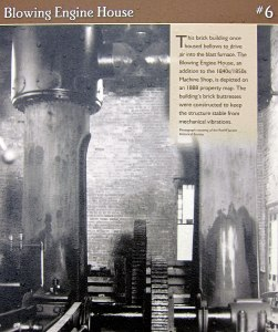 Bellows were operated in this structure to supply the furnace