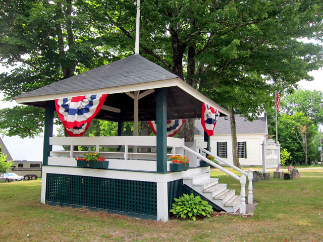 Effingham, NH, Bandstand - A Bandstand as it should be.
