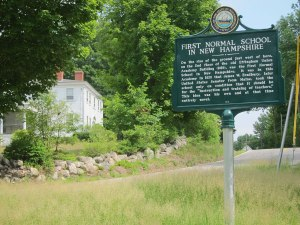 Marker for First Normal School on Route 153.