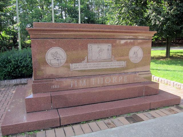 Jim Thorpe's tomb.