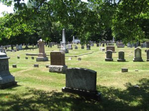 Cemetery west of the Parade Ground