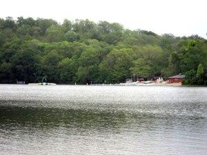Camp Hazen swimming area from across Cedar Lake.