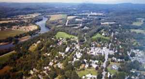 Here is the 2009 aerial view of Walpole in the museum.