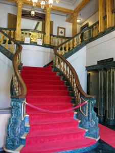 Entrance Way inside the Goodspeed Opera House.