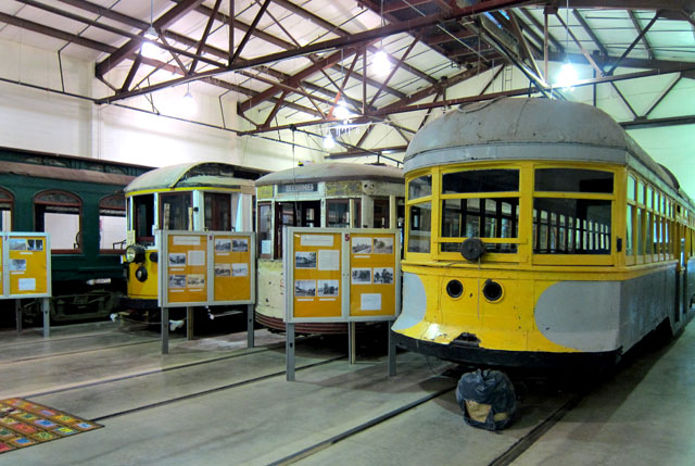 About half the trolleys on exhibit.