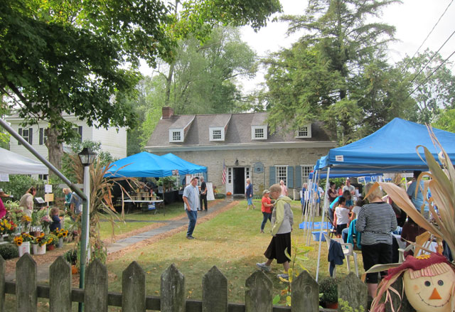 Hurley, NY, Historical Museum at festival time.
