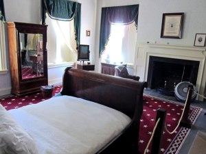 Van Buren's bedroom, and bed he died in.