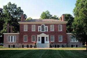 Typical Kinderhook home. General Burgoyne, as a prisoner, was entertained here October 22, 1777, after loosing at Saratoga, and being taken to Boston.