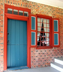 """Doorway to """"new"""" addition 1738. Later joined to the original part."""
