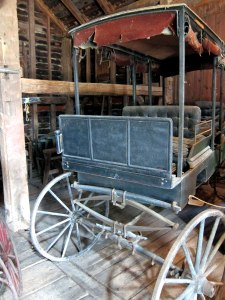 A carriage from the Catskill Mountain House - in the Dutch Barn