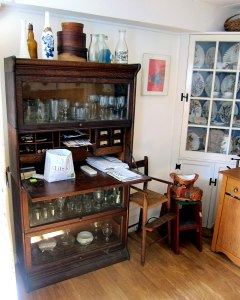 AGAIN SOMETHING I HAVE NEVER SEEN. A desk section on this barrister bookcase.