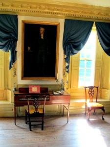 Portrait of Hamilton in second parlor