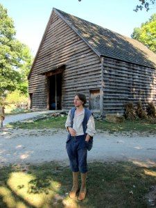 A brilliant young docent, with a degree in Historic Restoration and Interpretation.
