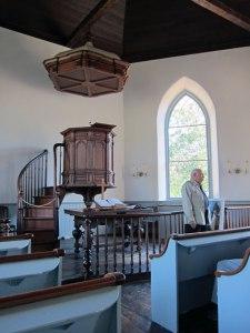 Inside the Old Dutch Church.