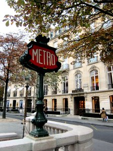 Typical Metro entrance.