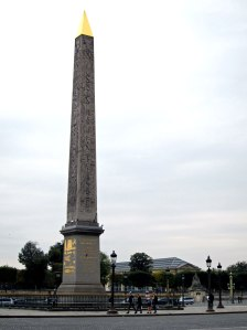 Luxor Obelisk, over 3,000 years old, arrived from Egypt in 1833 to the center of the Place de la Concorde