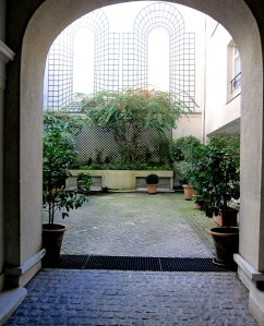 And, the courtyard as you enter.