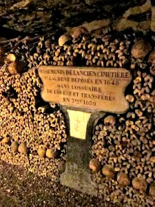 A number of plaques indicate when, and from where, the bones were moved.
