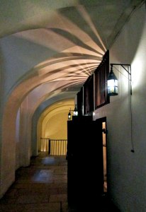 Down this passageway were the offices of the prison guards.