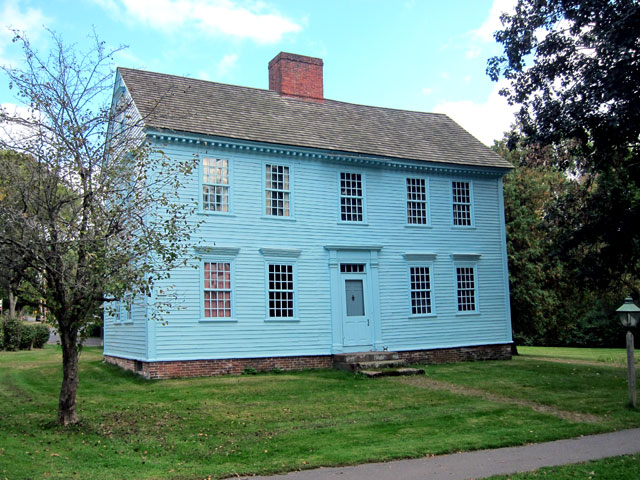 Wells-Thorn House at Historic Deerfield. Painted blue by the original owner, a lawyer, so everyone knew where he lived.
