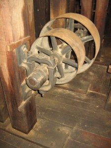 The mill was originally powered by water fed by a sluice from the first canal in the US