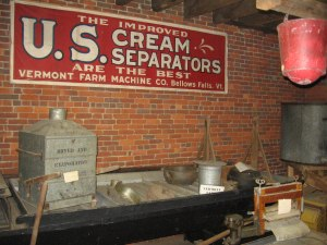 Much farm equipment was manufactured in Bellows Falls, and the museum has examples