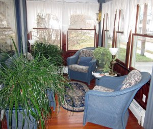 """Porch at Andrie Rose Inn - a spot I would be enjoyable """"blogging from"""""""