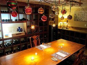 The wine cellar when you may arrange an intimate dinner.