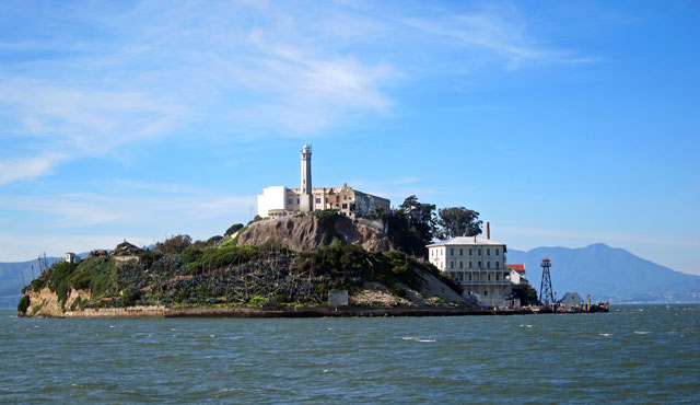 On the boat to Alcatraz Island
